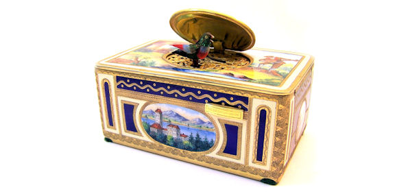 20th Century `singing bird` Automaton Musical Box