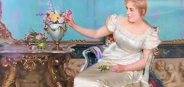 Vittorio Reggianini; Oil on Canvas, a pair.
