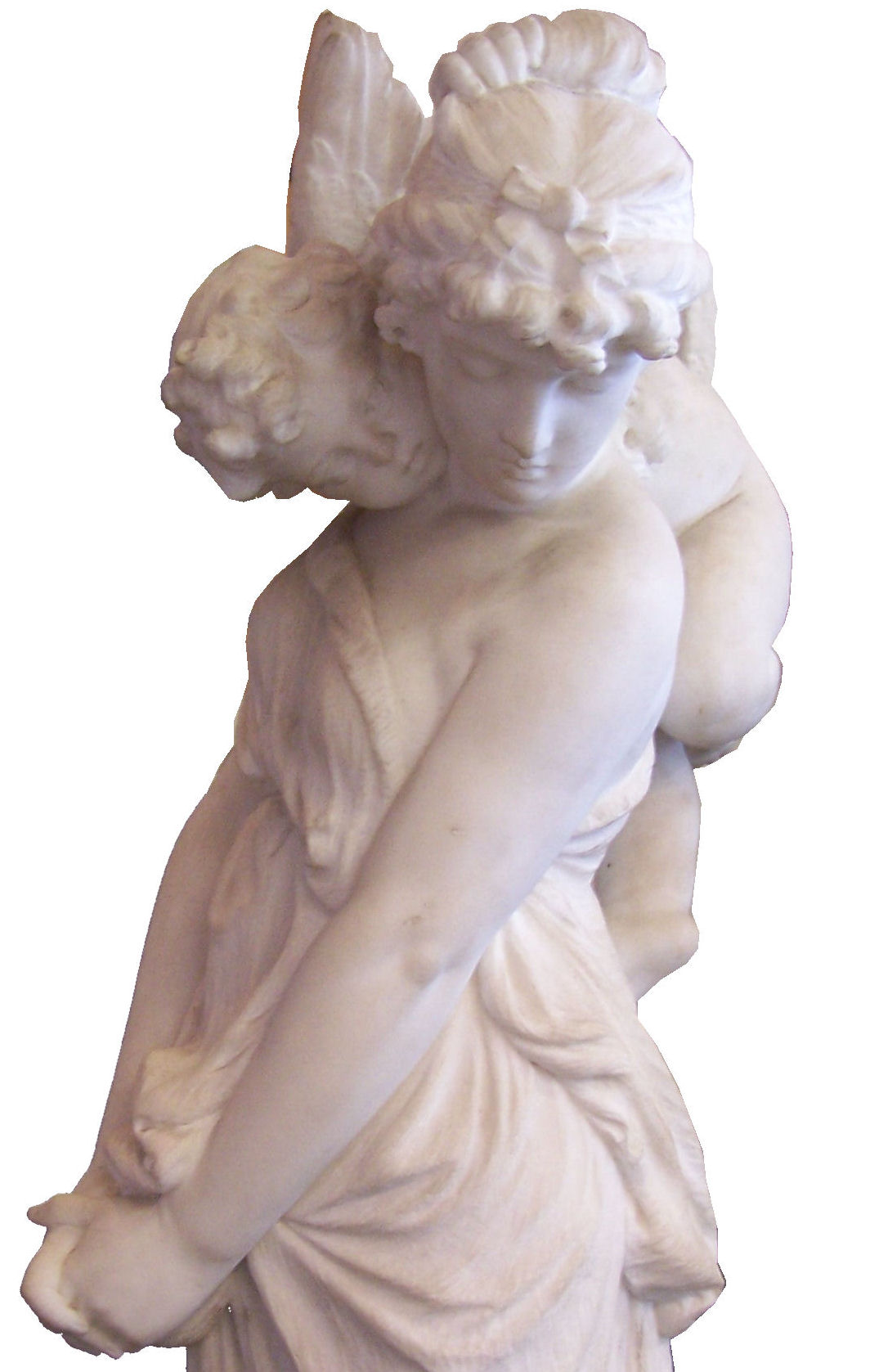 ANTONIO ROSSETTI; an Italian white marble group of Cupid and Psyche