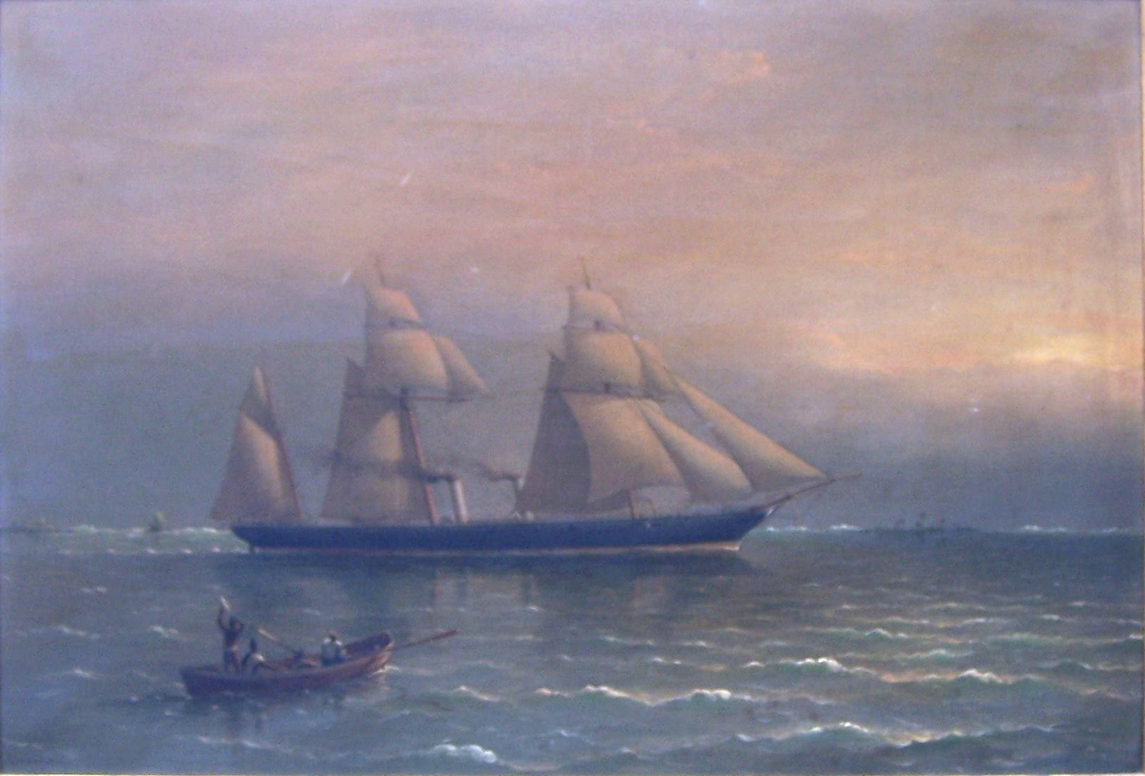 ADMIRAL RICHARD BRYDGES BEECHEY (1808-1895); HMS Pioneer at sea, Oil on Canvas