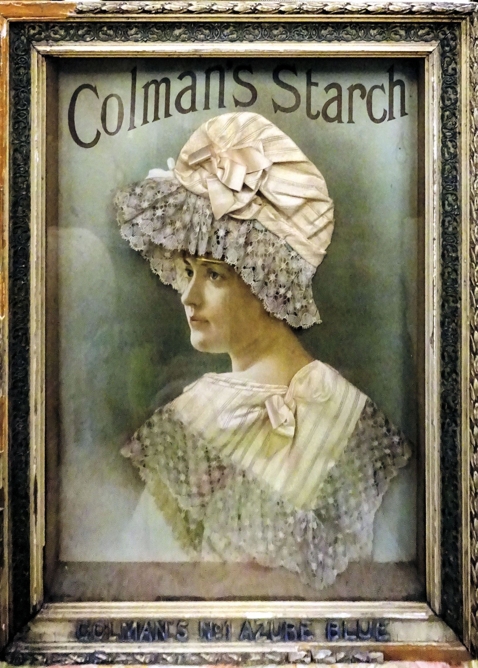 A three dimensional Panel advertising Colman's Starch