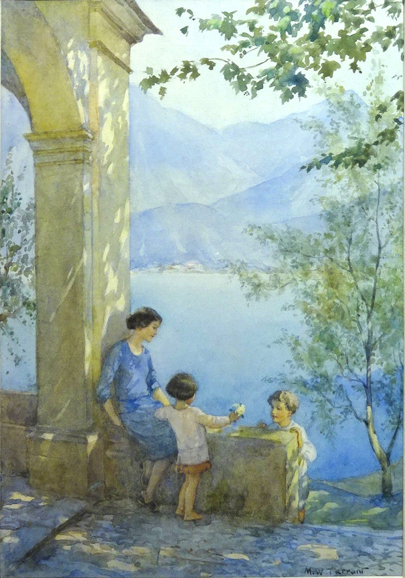 "MARGARET W TARRANT (1888-1959); ""Spring in Italy"", watercolour"
